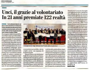 Articolo da L'Eco di Bergamo